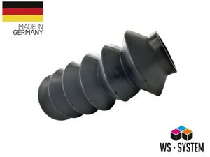 2 pieces of universal bellows rubber cuff pendants L 97mm-245mm Ø 44mm-48mm
