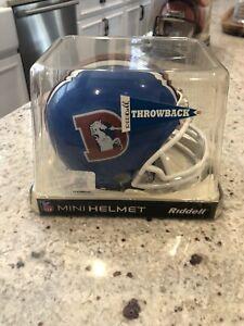 DENVER BRONCOS NFL Riddell VSR-4 3 Bar THROWBACK Mini Football Helmet *Noles2148