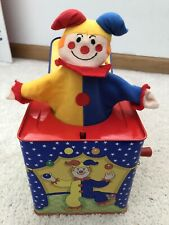 Toy Story 1997 SCHYLLING Jack-In-The-Box Clown Musical Metal Tin