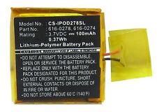 Battery for APPLE iPOD Shuffle G2 1GB, iPOD Shuffle G3 (P/N 616-0274, 616-0278 )