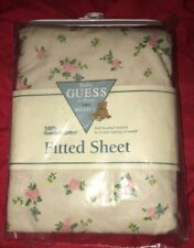 New VTG Baby GUESS CRIB SHEET 100% Sueded Cotton Made In USA