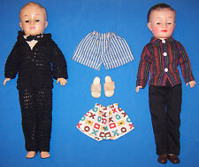 Vintage Lot 2 Jeff Dressed Boy Dolls Doll by Vogue Sleep Eyes Tux Cabana Sandals