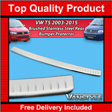 VW T5 2003-2015 T5.1 REAR BUMPER PROTECTOR TOUGH BRUSHED STAINLESS STEEL COVER