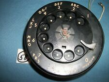 Black W.E Metal Finger Wheel Rotary Phone Dial,For Parts