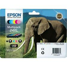 PACK 6 CARTOUCHE EPSON 24 XL NOIR MAGENTA CYAN JAUNE PHOTO / elephant t2438 t24