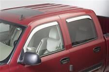 Putco Chrome 4 Piece Crew Cab/ESV/EXT Window Wind Vent Visors Rainguards 480011