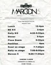 Maroon 5 2013 Overexposed Tour Setlist! First Niagra Pavilion concert Set List