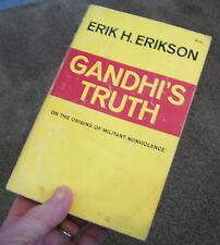 1969 Book 1st Ed-GANDHI'S TRUTH: Origins of Militant Nonviolence-Erik H Erikson-