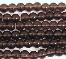 100 VERRE DE CRISTAL 6 mm ronde perles améthyste