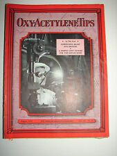 OXY-ACETYLENE TIPS - August 1932 - Linde Air Products Co. - Nice Cover