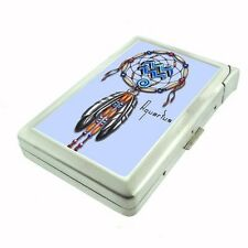 Dream Catcher Aquarius Cigarette Case with lighter ID Holder Wallet D261 Vintage