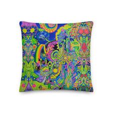 Flower pow epic world Premium photonicspore Pillow cushion