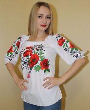 Ukrainian Embroidered Blouse Vyshyvanka embroidery Sizes XS,S,M,L,XL