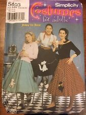 Simplicity 5403 Costume Grease 60s Poodle Circle Skirt pattern Size HH 6-12 UC