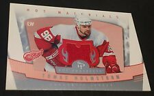 TOMAS HOLMSTROM 2006-07 Fleer Hot Prospects Hot Materials JERSEY Card RED WINGS