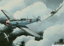 Battle of Britain aviation art post card 19 sqd spitfire Flt Lt Walter Lawson
