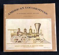 American Locomotive Engineering History 1830-1880 JH White Jr 1968 HC DJ
