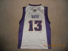 Phoenix Suns NBA Basketball Jersey#13   Steve Nash Reebok Youth Large Home White