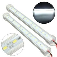 WHITE 2x 12V 15 LED 5630 SMD Interior Lights Strip Bar Car Van Caravan Fish