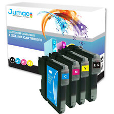 4 CARTOUCHE TYPE Jumao NON OEM assorties LC1100BK-LC1100Y pour BROTHER DCP-375CW