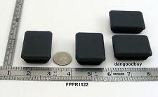 "4 Rectangular Plastic Finishing Plu 00004000 gs Fits 1 1/2"" X 2"" Tube Tubing Ends Plug"