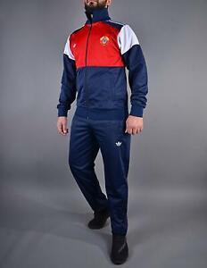 ADIDAS Anzug Rar Rarität Sport Suit Russia CCCP USSR 80-er, 90-er Dunkelblau