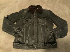 Levis x Justin Timberlake Premium Big E Sherpa Denim Jacket Men's Size Small