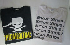 Lot of Two (2) Men's Epic Meal Time Bacon Strips T-Shirt S/S Novelty Tee Size L