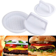Hamburger Patty Maker Grill Press Large Round Burger Plastic Mold Kitchen DIY