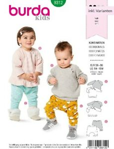 Burda Kids Schnittmuster, Kombination, leicht, Gr.: 56-86