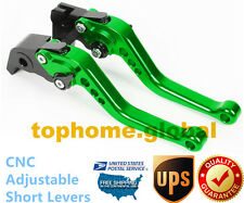 For Kawasaki Ninja 250R 08-12/ 300R 13-17 Short Clutch Brake Levers CNC Green US