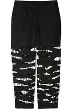 Alexander Wang RUNWAY Cutout Cropped Low Rise Black Jeans Sz 6 U.S, 10 U.K NWOT