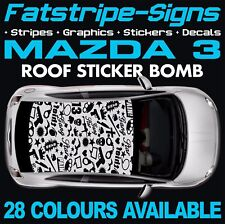 MAZDA 3 ROOF STICKER BOMB GRAPHICS STICKERS DECALS CAR 1.6 2.0 2.2 DOHC TURBO