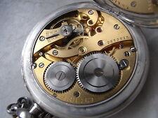 Art Deco Eterna Taschenuhr Chronometre 800 Silber Uhr u. Kette um 1930