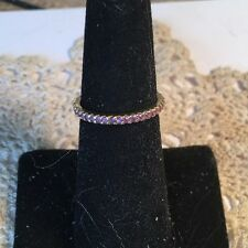 18k Yellow Gold Pink Sapphire Eternity Ring REDUCED
