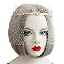 Womens Lace Mesh Vintage Bridal Butterfly Mask Veil Headdress Prom Party Wedding