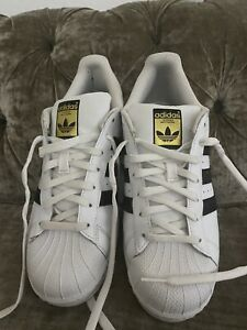 Adidas Superstar White & Black Trainers Size 7