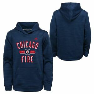 Adidas MLS Youth Chicago Fire Ultimate Pullover Hoodie