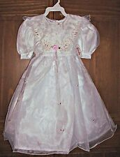 Sz 6 Girls White First Communion Wedding Special Occasion Holiday Party Dress