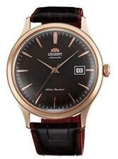 Orient Bambino Version 4 FAC08001T0 Brown Dial Brown/Red Leather Band Men's Wat
