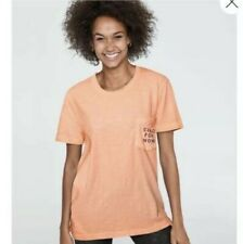 NEW VICTORIA'S SECRET PINK CAMPUS SHORT SLEEVE TEE - SMALL