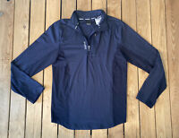 Reebok Men's long sleeve half zip pullover top Size S In Blue F2