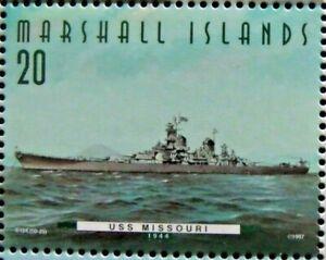 Marshall Islands stamp -USS Missouri 1944  -Fighting Ships US 50 states- #50-25