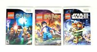 LEGO Harry Potter Years 1-4 / 5-7 / Star Wars 3: The Clone Wars Lot Nintendo Wii