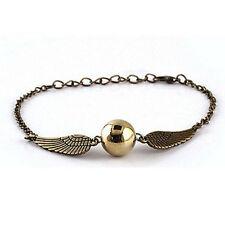 Retro Fashion Snitch Coppery Silver Bracelet Pendant Wing Charm Chain 2 Color FC
