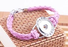 handmande cute DIY nosa  lether bracelet fit chunk snap button hot sell j3964