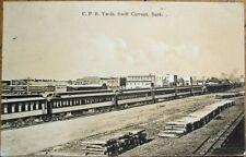 Swift Current, Saskatchewan, Canada 1912 Postcard: Canadian Pacific Railroad RR