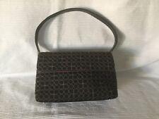 Kate Spade Gold & Black Aqua Nylon Leather Handbag