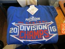 NWT MLB MAJOR LEAGUE BASEBALL CHICAGO CUBS 2016 CHAMPIONSHIP T SHIRT BLUE XL MEN