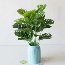 1pc Artificial Green Turtle leaf Decorative Home Garden Outdoor Plant 18 Leaves